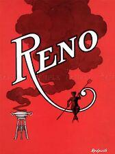 RENO 5 THE MAGICIAN FILES VINTAGE ADVERTISING REPRO POSTER ART PRINT 549PYLV