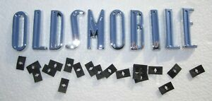 """1948-1949 """"OLDSMOBILE"""" Hood and Trunk Letters w/ Hardware Die Cast/Chrome Plated"""