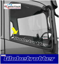 Volvo Globetrotter decals x 2. Truck window graphics stickers FH FM FH4