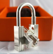 Hermes Cadena Lock Sterling Silver 925 Pendant Charm For Birkin / Kelly / Bolide