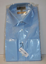 """Thomas Pink Imperial Blue Cotton 200s Shirt Double Cuff Size 17"""" R £225 Slim Fit"""