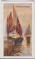 Italian Bragozzo Sailing Ship Venice 85+ Y/O Trade Ad Card