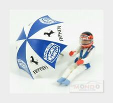 Figures Gilles Villeneuve For Ferrari 126C2 F1 With Umbrella BRUMM 1:43 CH01U Mo