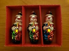 Vintage Clown Christmas Ornament, set of 3