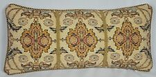 "Pillow made w Ralph Lauren Northern Cape Rug Floral Tapestry Fabric -19"" x 9"""