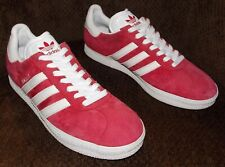 ADIDAS GAZELLE 2 Ruby Red/White Suede Lace Up Low Top Shoes Men's Size 10.5
