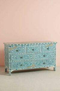 Bone inlay chest of drawers 7 drawer inlay dresser with insurance home decor