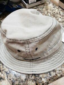 TOMMY BAHAMA MEN'S KHAKI BEIGE BUCKET HAT LARGE/X-LARGE 100% COTTON BRAND NWT
