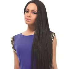 Vogue Long Stunning Black Heat Resistant Fiber Braided Lace Front Wig Hair Cos
