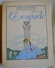 1931 L'escapade Henri de Regnier illustré George Barbier Mornay numeroté