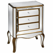 Country Bedside Tables & Cabinets with 3 Drawers