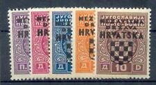 KROATIEN PORTO 1941 1-5 ** POSTFRISCH SATZ 45€(48016
