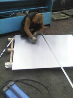 Aluminium alloy sheet 1050 H14 500mm x 500 mm x 1.5mm