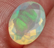 1.3Ct Natural Ethiopian Welo Opal Faceted Cut Play Of Color QOL1161