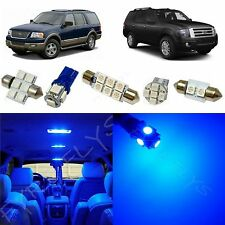10x Blue LED lights interior package kit for 2003-2013 Ford Expedition FE1B