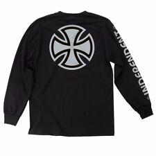 Independent Trucks Metallic Bar Cross Long Sleeve Shirt Black w/Silver Medium