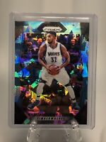 2017-18 Panini Prizm Karl Anthony Towns Blue Cracked Ice Wolves 24 /99