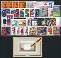 Bund Jahrgang 1974 jede MiNr 1x mit Block postfrisch MNH