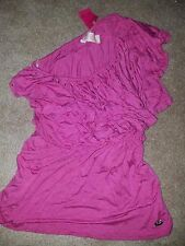 Womens Candie's Size Large Pink Brand New with Tags Blouse One shoulder