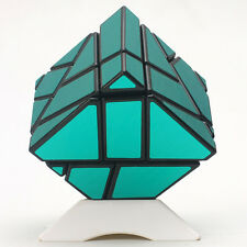 Ghost Ninja 3x3x3 Magic Cube Skewb Twist Puzzle Challenge IQ Toys Brushed Green