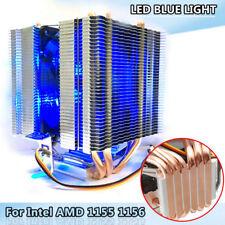 1 Metal LED CPU Refrigerador Ventilador para lag1156/1155/1150/775 AMD AM3+ AM2