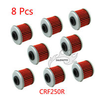 8x Oil Filter For Honda CRF150F CRF250R CRF450R TRX450R CRF150RB HUSQVARNA TE310