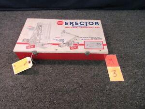 AC Gilbert Vintage Erector Set Metal Box Case 10211 Cape Canaveral Empty M3B