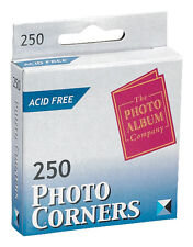 500 Photo Corners Transparent Acid Free (The Photo Company) Fast Dispatch Clear