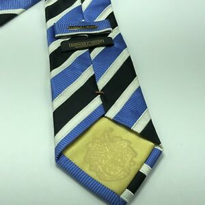 Donald j Trump signature collection tie Blue Black Necktie Striped Gold Pin 60""
