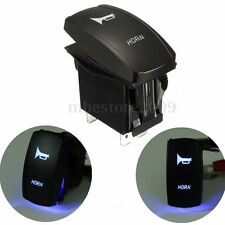 Momentary Car Boat Marine LED Light Horn Bell Laser Rocker Switch 12V/24V