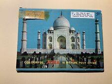 Colorful Agra 10 Picture Postcards India Vintage Souvenir Postcard Folder