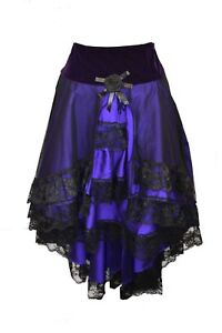 Dark Star Skirt Black And Purple With Laced Back.