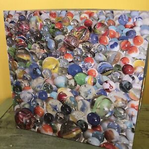 """Vintage Springbok """"Marbles"""" Jigsaw Puzzle 500 Pieces Glass Marbles Difficult"""