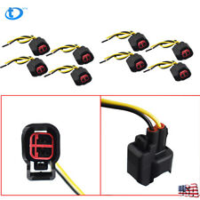 8 Pcs EV6 EV14 USCAR Fuel Injector Connector Pigtail Harness For Dodge LS2 LS3