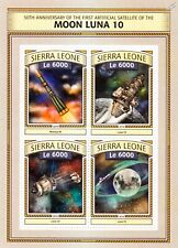 LUNA 10 Russian Moon Orbiter Satellite Space Stamp Sheet #1 (2016 Sierra Leone)