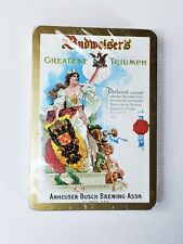 Budweiser Beer Playing Cards Vintage Ad Budweiser's Greatest Triumph New Sealed