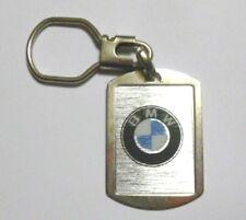 Vecchio Portachiavi metallico vintage anni '80 AUTO BMW (old keyring) b