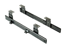 1pair Emuca 4193409 Height Adjustable Ball Bearing Keyboard Shelf Runner - Black