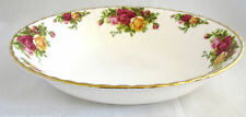 """ROYAL ALBERT OLD COUNTRY ROSES RUFFLE GOLD,9"""" SERVING VEGETABLE BOWL,DISH"""