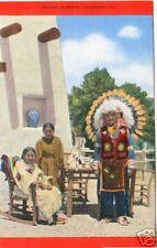 INDIANS in SCENIC COLORADO ~ Vintage LINEN