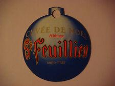 BEER COASTER Mat: St Feuillien CUVEE DE NOEL ~*~ Ornament ~*~  ANNO 1125