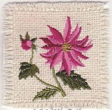 "2.5"" Light Pink Poinsetta  Flower embroidery applique"