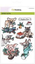 Craft EMOZIONI Timbro Clear Set-Natale Animali Domestici 1