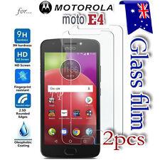 2X Motorola Moto E4 Tempered Glass / Plastic Screen Protector Film Guard Moto E4