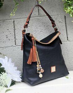 NEW Dooney & Bourke twist strap pebble leather Hobo Shoulder Bag purse handbag