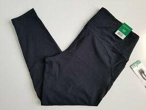 DANSKIN Women's Black Salt Leggings Size X-Large XL Cropped Contour Active NWT