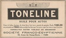 Y7280 Huile pour autos TONELINE - Pubblicità d'epoca - 1928 Old advertising