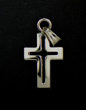 Sterling Silver Cross Cut out Small Pendant 925