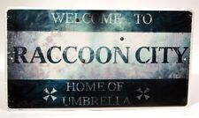Resident Evil: Welcome to Raccoon City Plaque Sign [Video Game Memorabilia] NEW