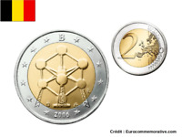 2 Euros Commémorative Belgique 2006 Atomium UNC